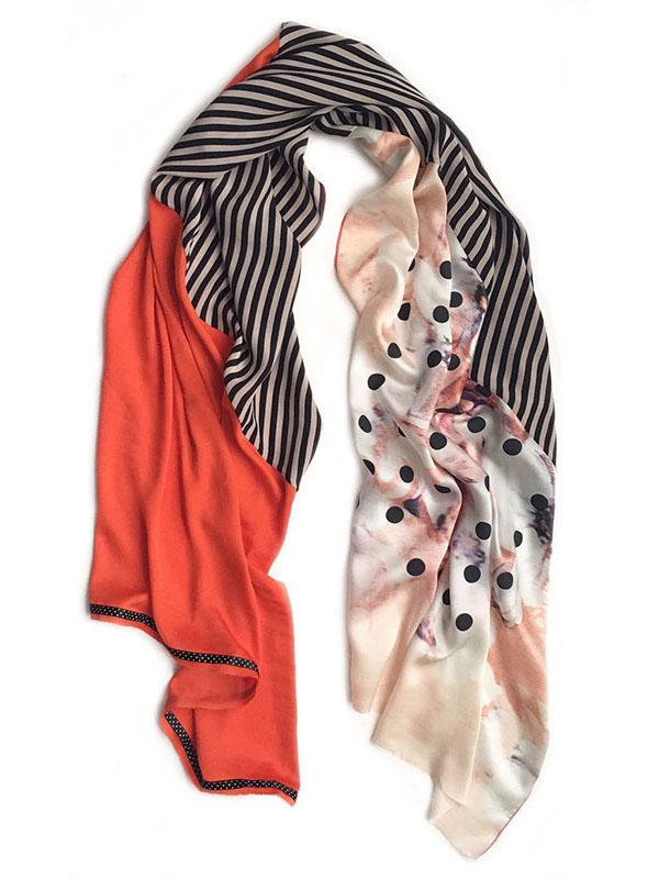 pastel flower flag | handmade silk scarf by Atelier Markx