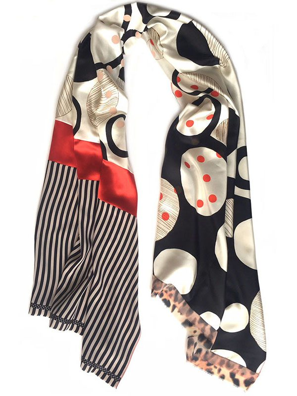 circles & dots | luxury handmade scarf by Atelier Markx