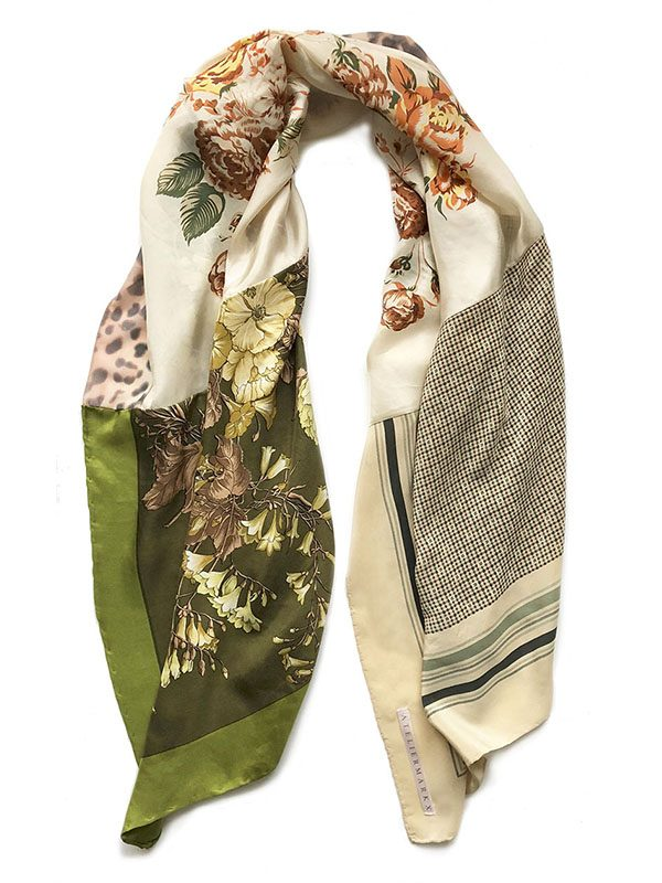 green flowers foulard | the new luxury by Atelier Markx
