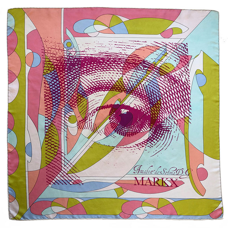 amalia eye carré | luxury handprinted scarf by Atelier Markx