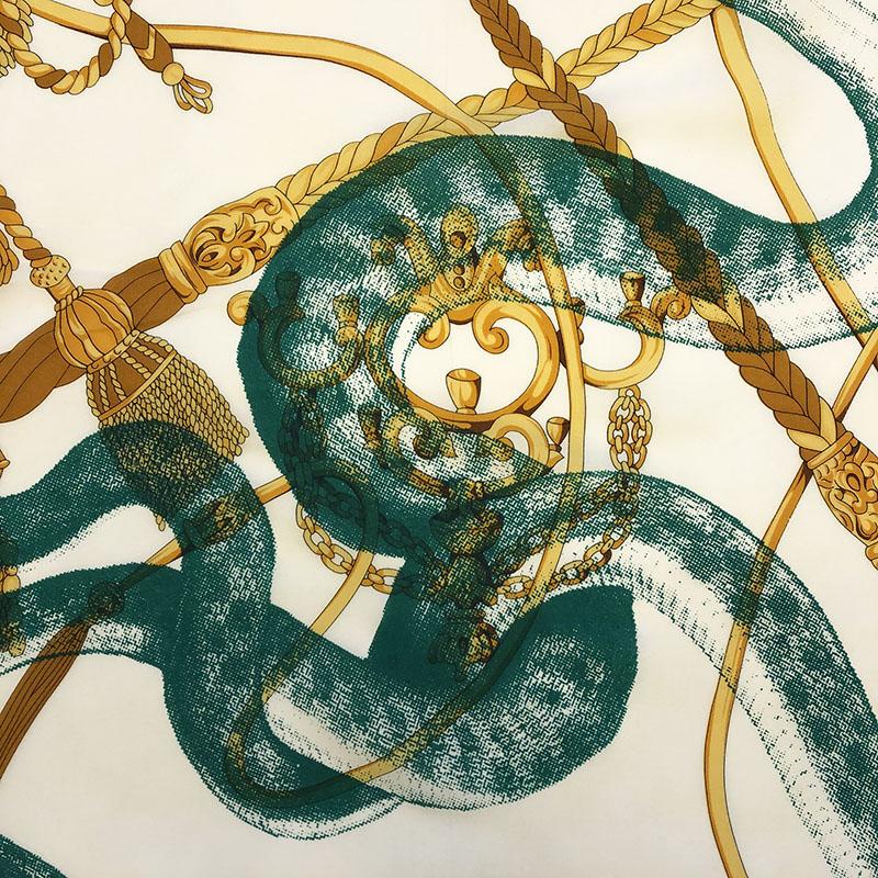 Snake on vintage silk scarf   handprinted by Atelier Markx