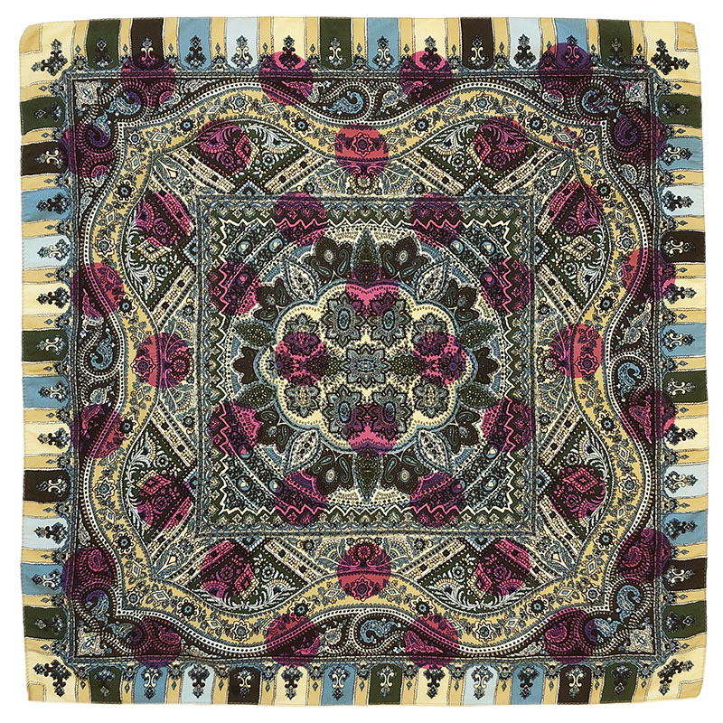 tapestry pochet | luxury handprinted vintage silk scarf by Atelier Markx