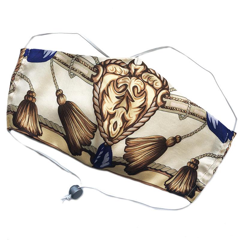 face silk tassles | unique silk facecover handmade by Atelier Markx