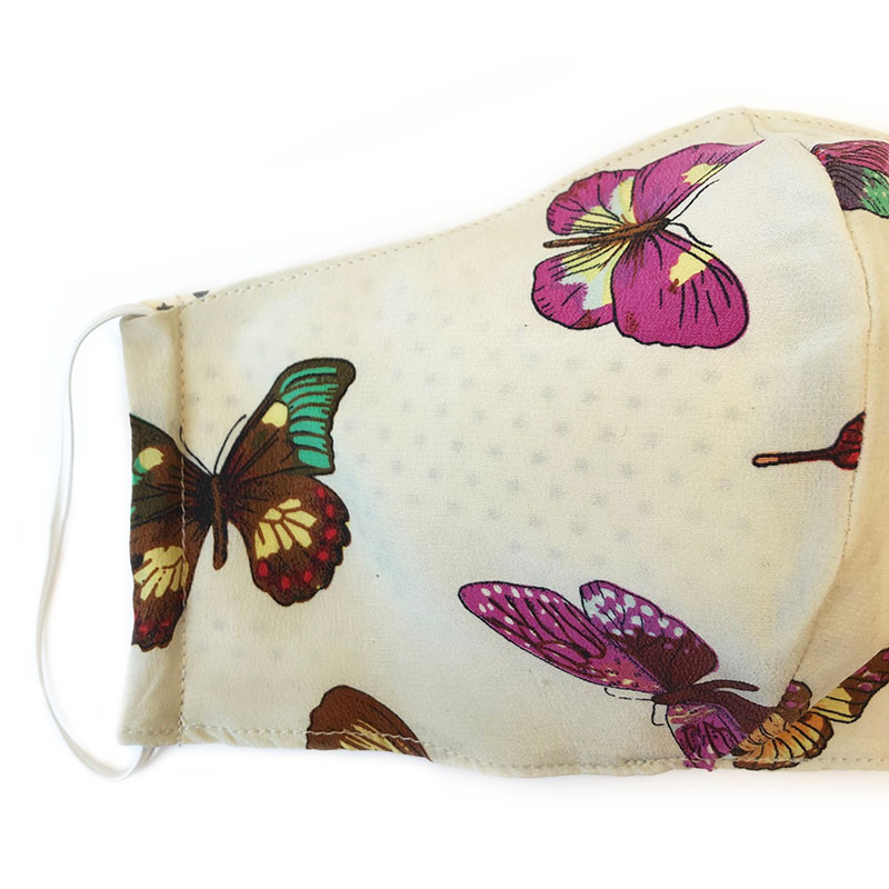 face mask silk butterflies (reversible)