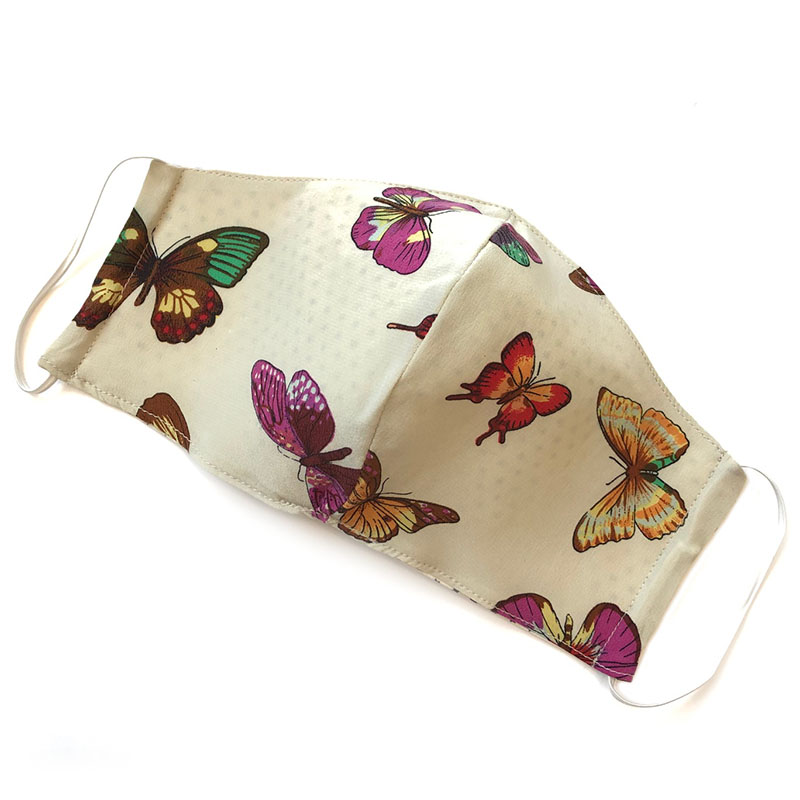 face mask silk butterflies (reversible) | unique silk facecover handmade by Atelier Markx