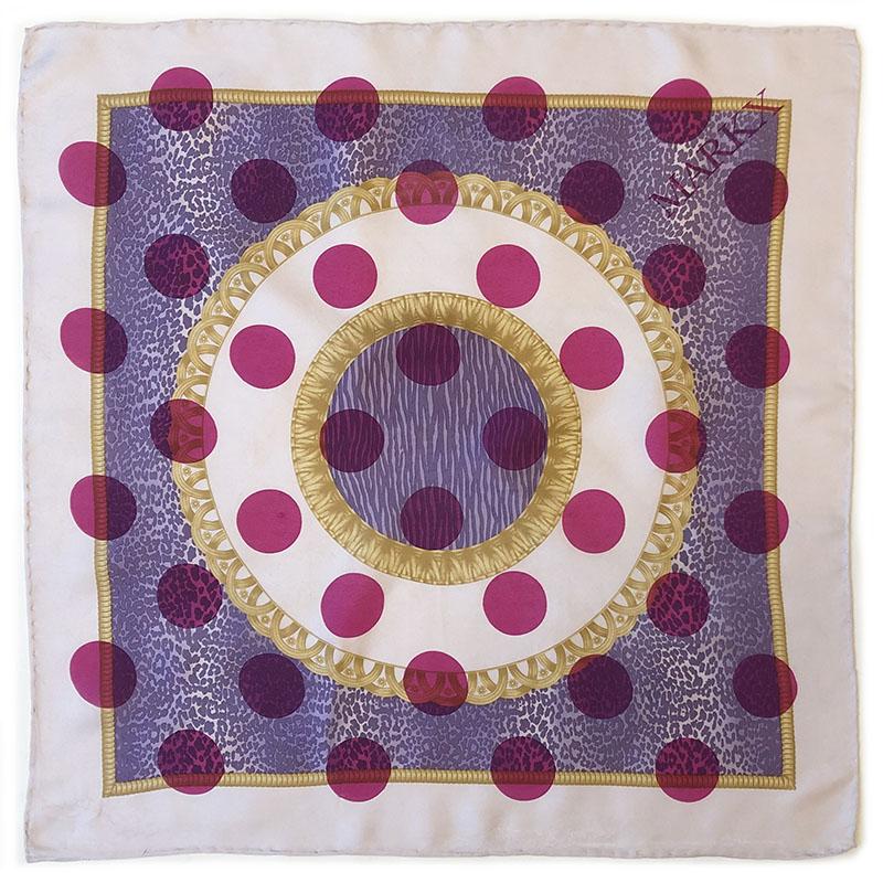 snakeskin pochet | luxury handprinted vintage XS scarf by Atelier Markx