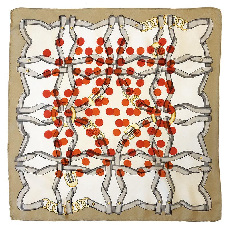 ceintures pochet | luxury handprinted vintage scarf by Atelier Markx