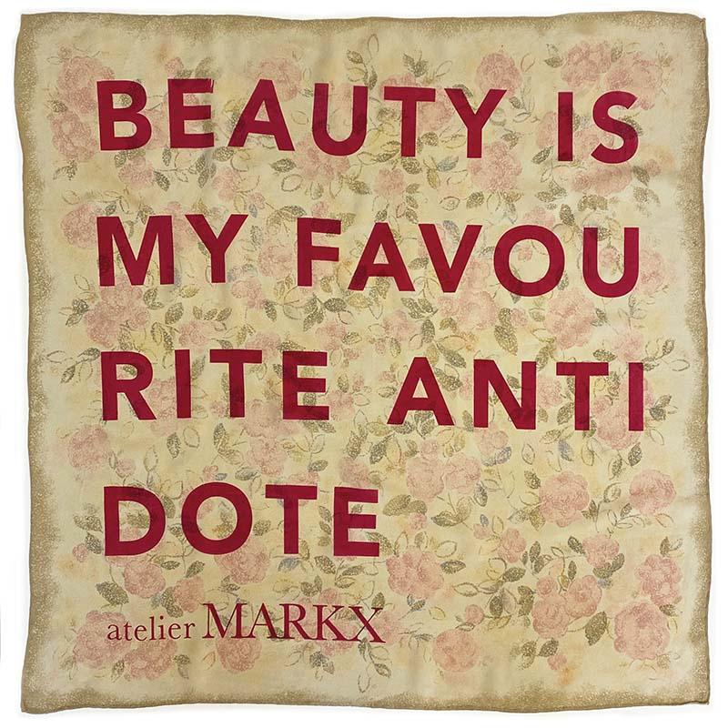 Atelier Markx silk scarf antidote