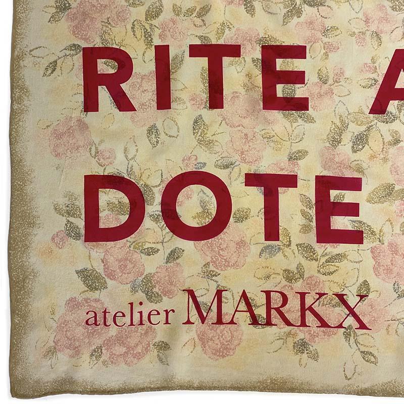 Atelier Markx silk scarf antidote detail