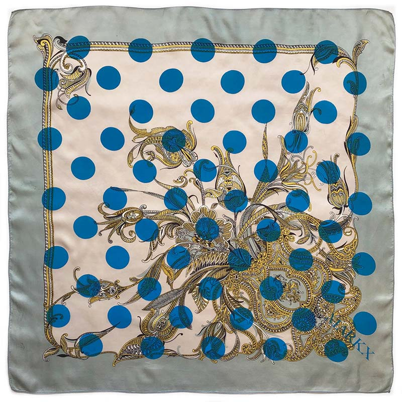 fine flowers carré | luxury handprinted vintage scarf by Atelier Markx